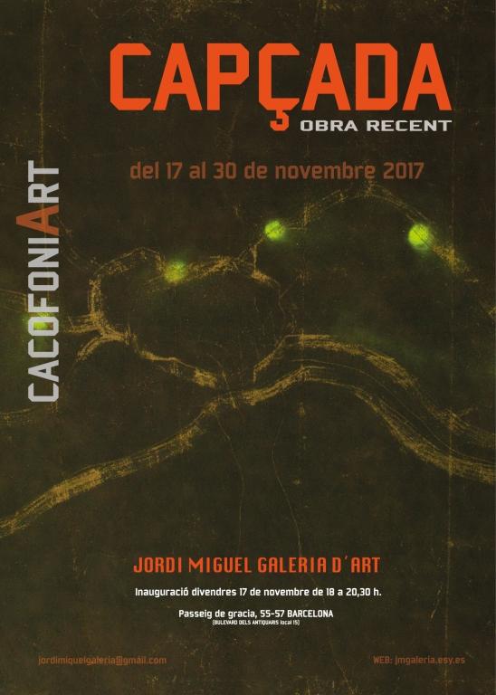 Inauguración expo Capçada 17 noviembre  18:00 h